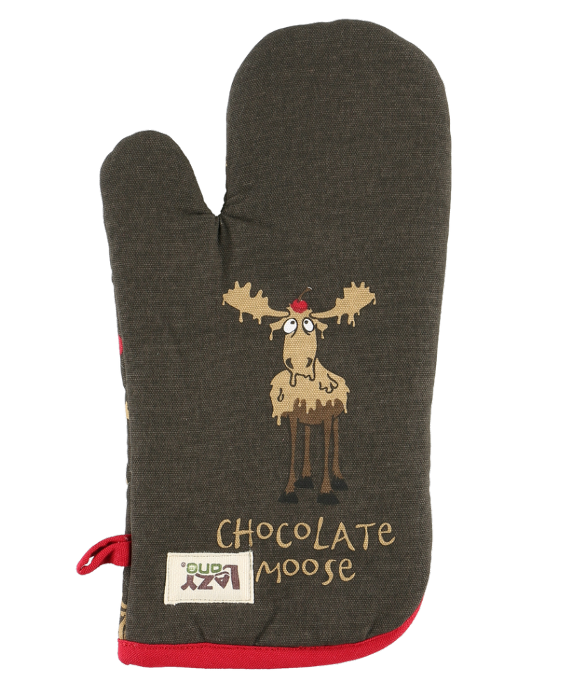 Chocolate Moose Oven Mitt - Lazy One®